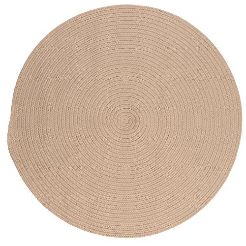 Boca Raton Polypropylene Braided Round Rug, 6-Feet, Linen