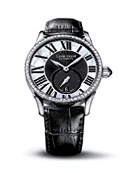 Louis Erard Women's 92310SE02.BAV04 Emotion Automatic Mother of Pearl and Black Dial Alligater Diamond Watch