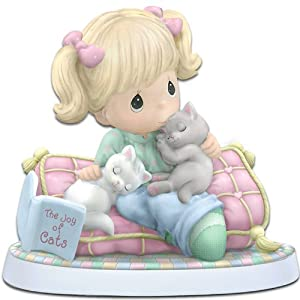 "Precious Moments ""Home Is Where My Cats Are"" Figurine by The Hamilton Collection"
