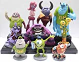 Animekingdom-10pcs/Set Monsters Inc. Monsters University Mike Sully PVC Figure Loose