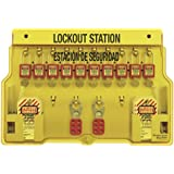 Master Lock Spanish/English 10-Padlock Capacity Lockout Station with Cover