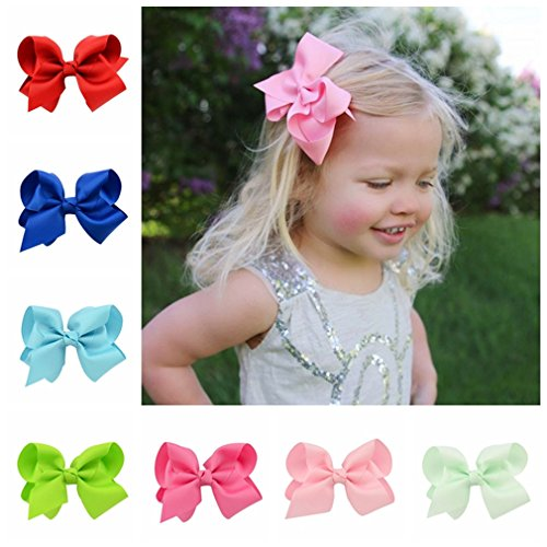 Children Teens Girl Hair Bow gros-grain Boutique Alligator (Mold 612)