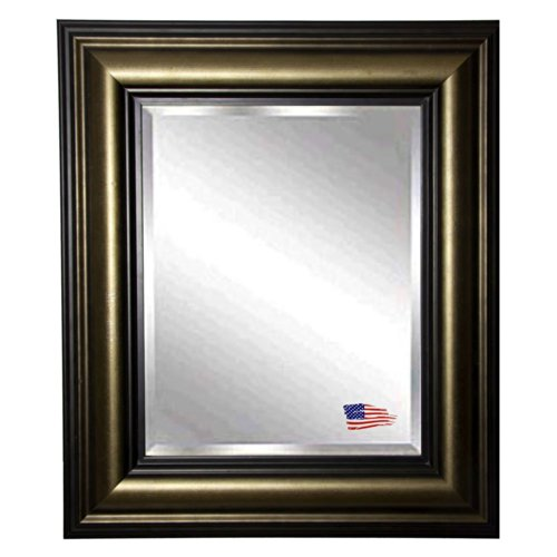 American Made Rayne Stepped Antiqued Beveled Wall Mirror, 30 X 36 front-556171