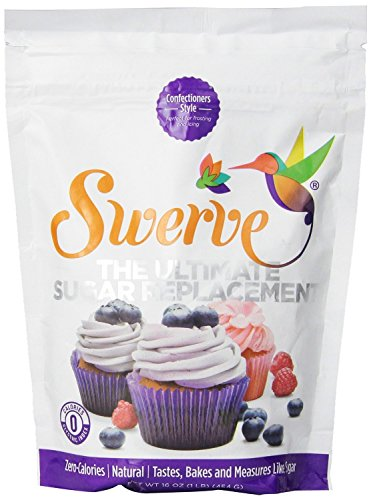 Swerve Sweetener, Confectioners, 16 oz (1 LB), 3 Bags