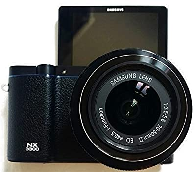 Samsung NX3300 EV-NX3300BEBUS Interchangeable Lens Camera with 20-50mm Power Zoom Lens and Flash, Black