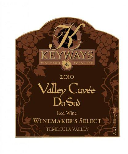 2010 Keyways Vineyard And Winery Winemaker'S Selection Valley Cuvee Du Sud Red Wine, Temecula Valley 750 Ml