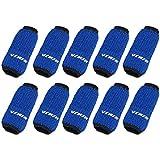 Blue 10PCS Sports Elastic Finger Sleeve Protector