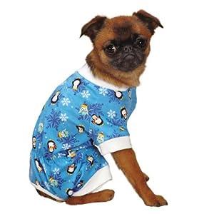 Casual Canine North Pole Pals Pajamas, Medium, Blue