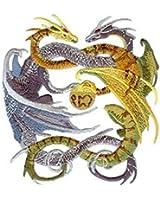 Dragons - Mystical Grey & Green Dragon Logo Patch