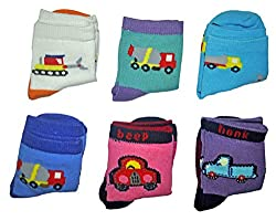 Imported Baby Socks (6pair set)- Comfy - Unisex - (0 months +)