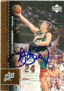 Detlef Schrempf autographed Basketball Card (Seattle Sonics) 1996 Upper Deck #116