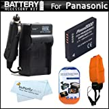 Battery And Charger Kit For Panasonic Lumix DMC-TS4 DMC-TS3 Digital Camera Includes Extended Replacement (1200Mah...