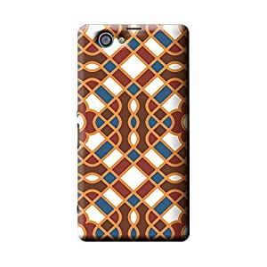 Garmor Geometric Pattern Design Plastic Backcover for Sony Xperia Z1 Compact D5503- (Geometric 1)