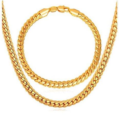 cadenas-de-oro-platinum-men-para-hombres-laminada-necklace-bracelet-set-men-jewelry-3-colors-6-mm-wi