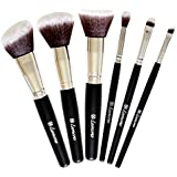 Travel Makeup Brush Set Professional Kit With 6 Essential Face And Eye Makeup Brushes Kabuki Eyeshadow Powder...
