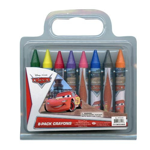 Disney Cars 8 Pack of Jumbo Crayons for Art School & More