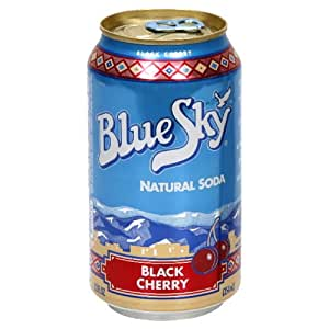 Blue Sky Black Cherry 6 pack, 12-ounces (Pack of4)