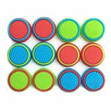 Pack of 12pcs J&H Thumb Grip Thumbstick Noctilucent Sets for PS2, PS3, PS4, Xbox 360, Xbox One Controller [video game accessory]