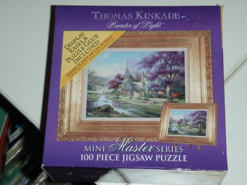 "2003 Thomas Kinkade Painter of Light Mini Jigsaw Puzzle "" It Doesn't Get much Better Than This "" - 100 Pieces"