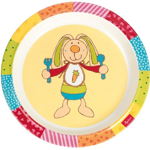 sigikid-24326-melamin-teller-rainbow-rabbit