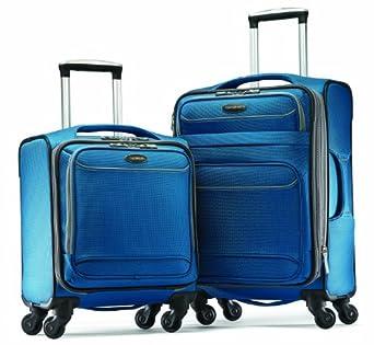 Samsonite Luggage Lightweight 2 Piece Set, Blue Dream/Silver Smoke, One Size