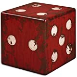 Uttermost 24168 Dice Accent Table, Red by Uttermost
