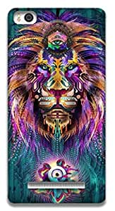 The Racoon Lean printed designer hard back mobile phone case cover for Xiaomi Mi4i. (The Lions)