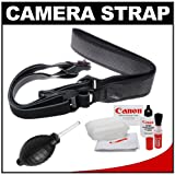 Joby UltraFit Sling Camera Strap for Women (Charcoal) with Canon Cleaning Kit for Canon T3, T3i, T4i, EOS 60D, 6D, 7D, 5D Mark II, IDs, 1D, 1DX