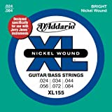 D'Addario XL155 Nickel Wound Electric Guitar/Bass Strings, Jerry Jones, 24-84