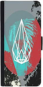Snoogg Red Indian Spaz Designer Protective Phone Flip Case Cover For Samsung Galaxy E5