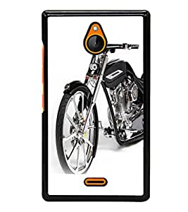 printtech Superfast Bike Back Case Cover for Nokia X2 RM-1013, Nokia X2DS