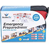 ResQue1st Complete First Aid Kit & Emergency Preparedness Kit · 200 Pieces · Best for Car · Home · Office · School · Travel · Camping · Hiking and Sports · Survival Gear · Bug Out Bag
