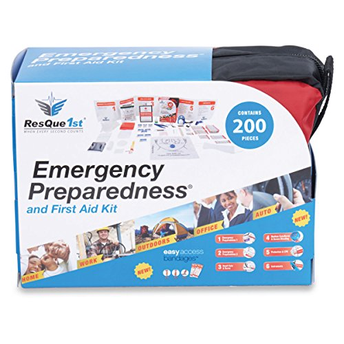 ResQue1st-Complete-First-Aid-Kit-Emergency-Preparedness-Kit--200-Pieces--Best-for-Car--Home--Office--School--Travel--Camping--Hiking-and-Sports--Survival-Gear--Bug-Out-Bag