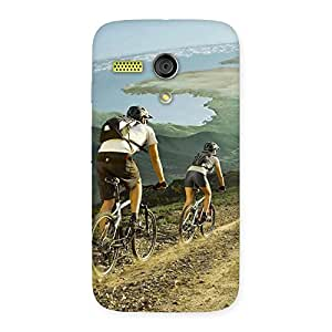 Mountain Bikers Back Case Cover for Moto G