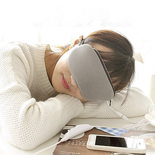 Grinigh Long-lasting Herbal Lavender Steam Eye Mask with USB Warm-heating & Temperature and Timing Adjust for Sleep Aid/Travel/Shiftwork Resting (Herbal Microwaveable Heat Pad compare prices)