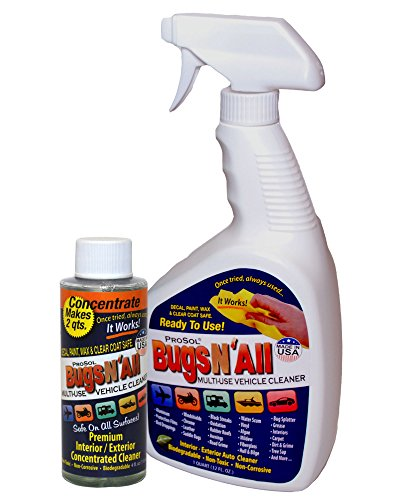 bugs-n-all-professional-strength-multi-surface-vehicle-cleaner-4oz-concentrate-makes-2-quarts-includ