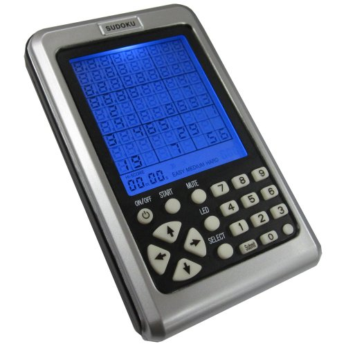 Akira Electronic Sudoku Number Puzzle Handheld Travel Game With Keypad - 4.5 Inch