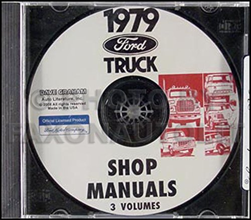 1979 Ford Truck CD Repair Shop Manual 79 F100-350 Pickup Bronco and Van (Ford F100 79 compare prices)