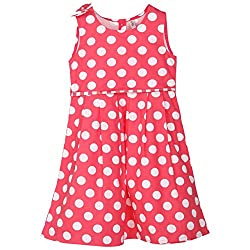 Chalk by Pantaloons Girl's Printed Dress 205000005561083_Coral_2-3 YRS