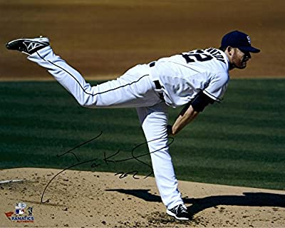"Ian Kennedy San Diego Padres Autographed 16"" x 20"" White Uniform Horizontal Pitch Photograph - Fanatics Authentic Certified"