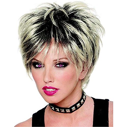 80s Rock On Mixed Blonde Wig - One Size