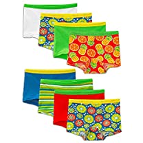 Fruit of the Loom Girls' 8 Pack Wardrobe Boy Short
