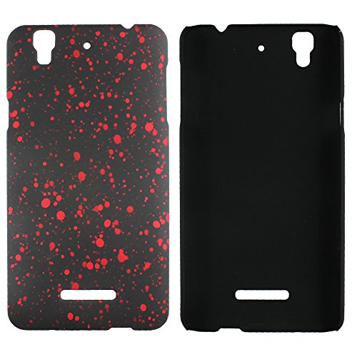 Heartly Night Sky Glitter Star 3D Printed Design Retro Color Armor Hard Bumper Back Case Cover For Micromax Yu Yureka Cyanogenmod - Hot Red