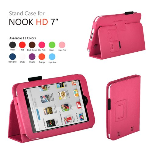 Exact(TM) PU Leather Folio Case for Nook HD 7
