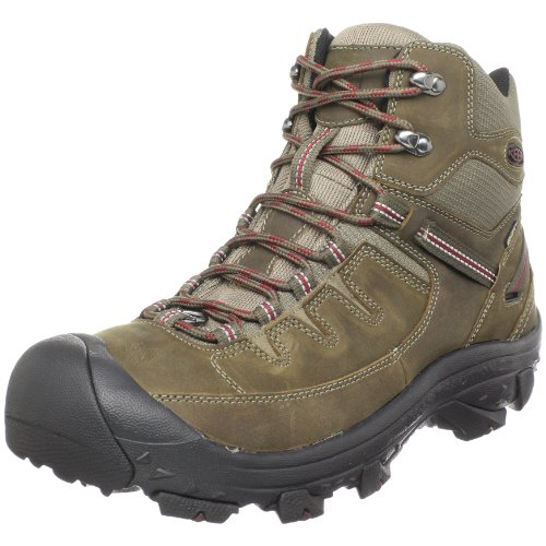 Keen Men's Delta Hiking Boot,Stone Gray/Madder Brown,8 M US