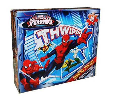 Ultimate Spider-Man Jigsaw Puzzle - Shaped - 48 Piece by Cardinal - 1