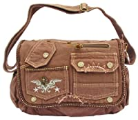 Brown Laptop Cross Body Canvas Messenger Bag