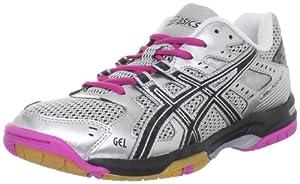ASICS Women's GEL-Rocket 6 Volleyball Shoe,Silver/Black/Pink,8 M US