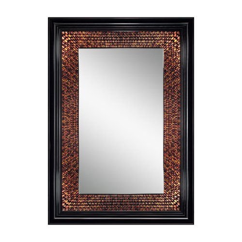 Head West Amber Rectangle Mirror, 29 by 36-Inch
