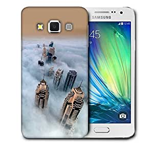 Snoogg Clouds And Building Printed Protective Phone Back Case Cover For Samsung Galaxy A3